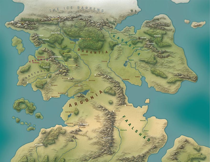 OC] My homebrew campaign world map : DnD